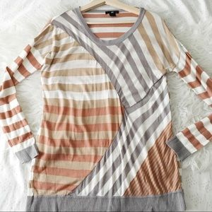 Patchy Stripe Long Sweater